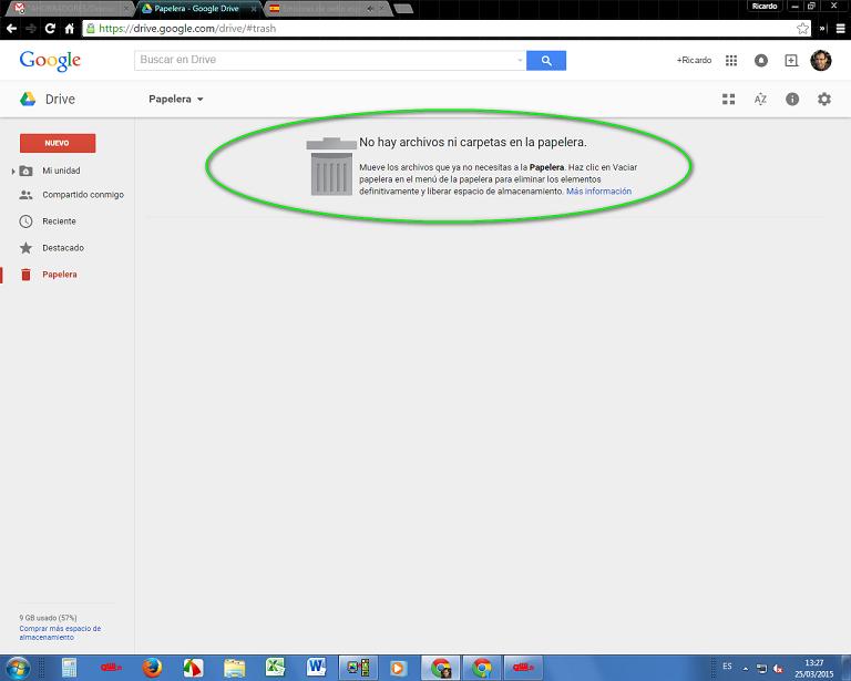 papelera de google 2
