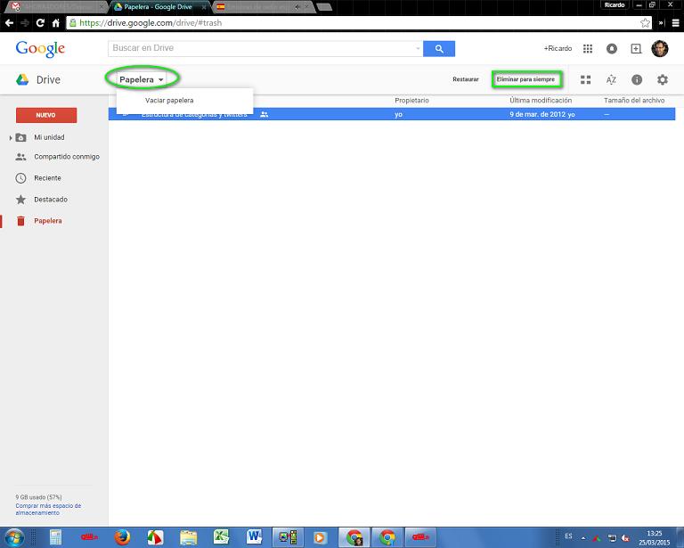 papelera de google